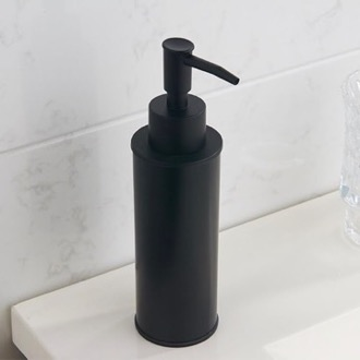 Soap Dispenser Round Modern Matte Black Soap Dispenser Nameeks NCB85
