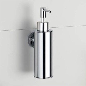 Soap Dispenser Wall Mounted Round Chrome Soap Dispenser Nameeks NCB86