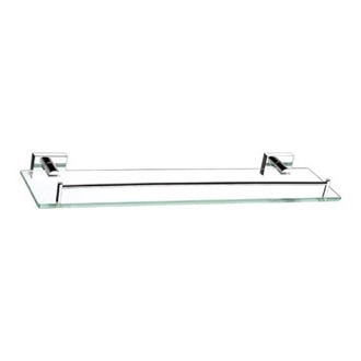 Bathroom Shelf 20 Inch Glass Shelf With Chrome Mounting Nameeks NFA002
