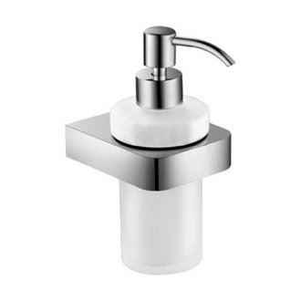Soap Dispenser Wall Mount Frosted Glass Soap Dispenser With Chrome Mounting Nameeks NFA006