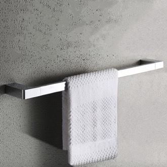 Towel Bar 24 Inch Modern Chrome Towel Bar Nameeks NFA017