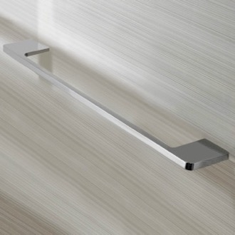 Towel Bar Rectangular 18 Inch Towel Bar in Chrome Finish Nameeks NNBL0057