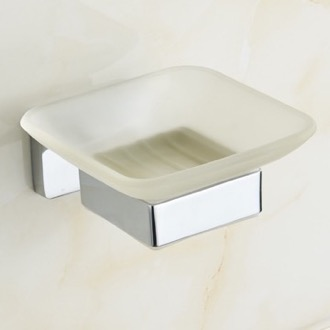 Soap Dish Chrome Wall Mounted Frosted Glass Soap Dish Nameeks NCB19