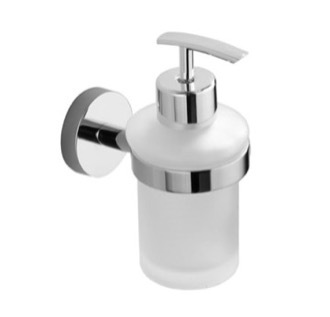Soap Dispenser Chrome Wall Mounted Frosted Glass Soap Dispenser Nameeks NCB41