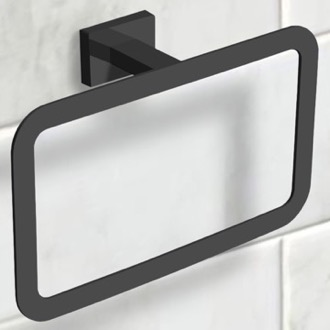 Towel Ring Modern Matte Black Towel Ring Nameeks NCB57
