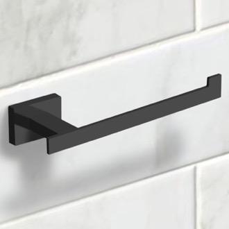 Modern Matte Black Toilet Paper Holder