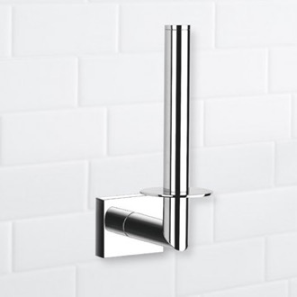 Toilet Paper Holder Rectangle Chrome Vertical Toilet Paper Holder Nameeks NFA001
