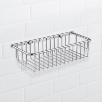 Shower Basket Wall Mounted Chrome Wire Shower Basket Nameeks NFA024