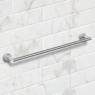 Towel Bar 25 Inch Polished Chrome Towel Bar Nameeks NNBL0035