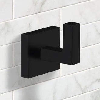Bathroom Hook Modern Square Bathroom Hook in Black Finish Nameeks NNBL0054