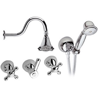 Shower Faucet Chrome Deck Mount Shower Faucet Remer 03LIS02
