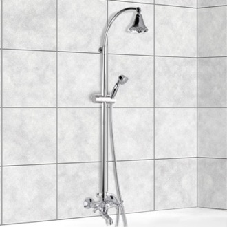 Showerpipe System Chrome Wall Mounted Showerpipe System Remer 09LI