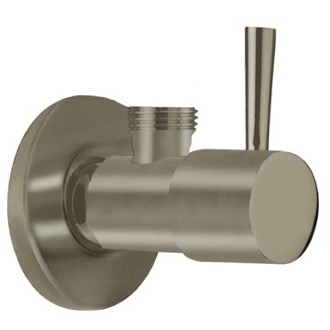 Angle Valve Satin Nickel Angle Valve With Lever Handle Remer 128L-NP