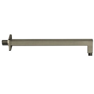 Shower Arm Square 16 Inch Shower Arm in Satin Nickel Finish Remer 348S40US-NP