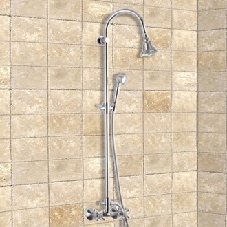 Showerpipe System Chrome Wall Mounted Showerpipe System Remer 37LI