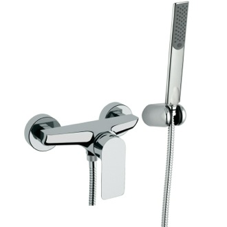 Shower Faucet Wall-Mounted Shower Diverter With Frontal Lever And Hand Shower Remer I38US