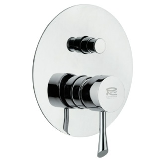 Diverter Built-In Bath and Shower Diverter with Deluxe Flange Remer J09L