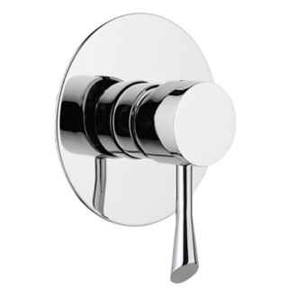 Mixer Built-In Shower Mixer With Single Lever and Deluxe Flange Remer J30L