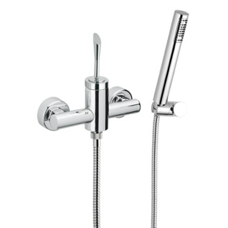 Shower Faucet Single Lever Shower Diverter With Hand Shower and Holder Remer J39