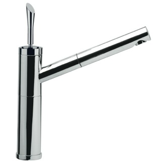 Kitchen Sink Faucet Chrome Bathroom Sink Faucet With Pull-Out Spout Remer J47