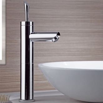 Bathroom Faucet Chrome Round Single Lever Vessel Sink Faucet Remer J11L