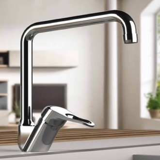 Kitchen Sink Faucet Chrome Sink Faucet with Swivel Spout Remer K42U