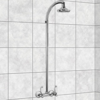 Exposed Pipe Shower Wall-Mounted Shower Head Column In Chrome Finish Remer LR36US