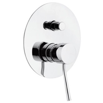 Diverter Single-Lever Bath and Shower Diverter With Deluxe Flange Remer N09L
