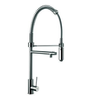 Kitchen Sink Faucet Sink Mixer With Round Body, Double Water Outlet and Hand Spray Remer N78US