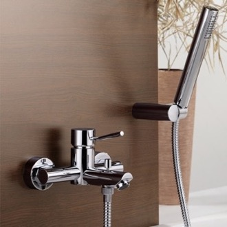 Tub Filler Wall Mount Tub Faucet with Hand Shower Remer N02