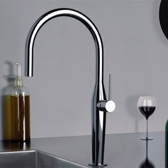 Kitchen Faucet Chrome One Hole Kitchen Faucet Remer NK72