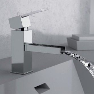 Bathroom Faucet Chrome Waterfall Bathroom Sink Faucet Remer QC11US
