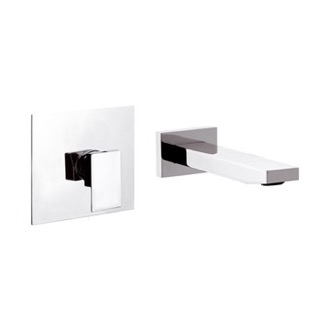 Bathroom Faucet Chrome 2-Piece Wall Mounted Faucet Remer QD15C