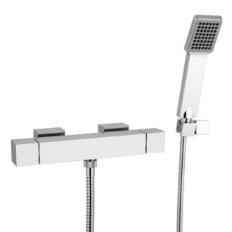 Shower Faucet Thermostatic Wall Mounted Shower Mixer with Hand Shower and Bracket Remer QT39US