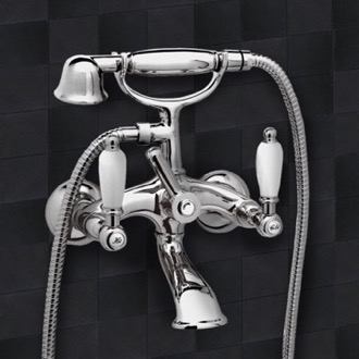 Tub Filler Chrome Wall Mount Telephone Bathtub Faucet Remer LR02US