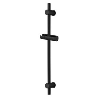 Shower Slidebar Round Matte Black Wall-Mounted Sliding Rail Remer 317G-NO