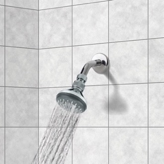 Shower Head Chrome Full Spray Shower Head with Shower Arm Remer 342-351A