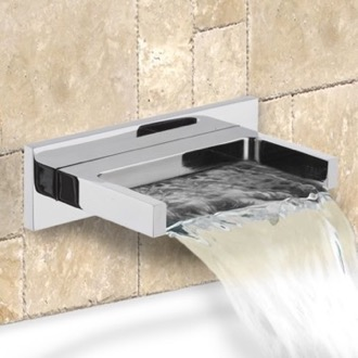 Tub Spout Chrome Wall Mounted Waterfall Tub Spout Remer 91ZCUS