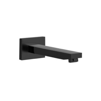 Tub Spout Matte Black Wall Mount Bathtub Spout Remer 91Q-NO
