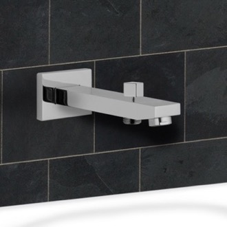Tub Spout Wall-Mounted Tub Spout With Diverter Remer 91QD