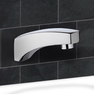 Tub Spout Chrome Wall Mount Tub Spout Remer 91
