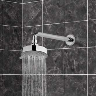 Shower Head Chrome Five Function Shower Head and 12 Inch Stainless Steel Shower Arm Gedy SUP1122