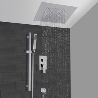 Shower Faucet Chrome Shower System With 16