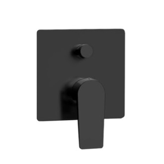Diverter Matte Black Wall Mounted Diverter Remer D09NO