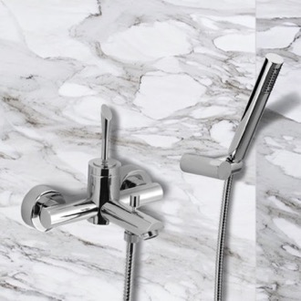 Tub Filler Wall Mount Tub Faucet with Hand Shower Remer J02