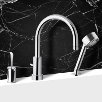 Tub Filler Roman Tub Faucet with Hand Shower Remer J48319MO