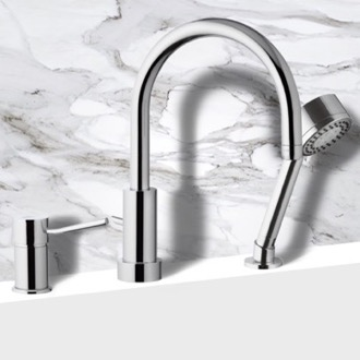 Tub Filler Roman Bathtub Faucet with Hand Shower Remer N48319MO