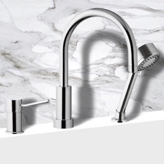 bathroom and canada depot en roman the nickel freestanding tub in p categories arc faucet eva bathtub bath high home faucets brushed handle