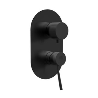 Diverter Matte Black Three Way Shower Diverter Remer N93US-NO