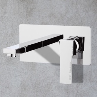 Bathroom Faucet Chrome Single Handle Wall Mount Bathroom Sink Faucet Remer Q15US